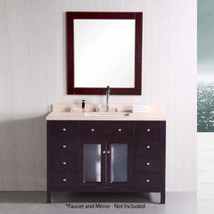 "48"" Venetian Single Sink Bathroom Vanity - Cherry"