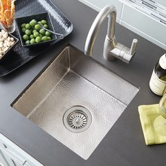 "13"" Square Cantina Undermount Bar Sink - Brushed Nickel"