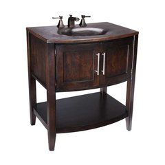"30"" Verismo Single Sink Bathroom Vanity - Black Copper"