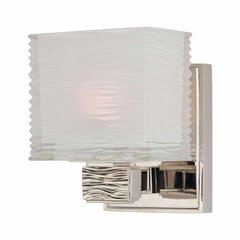 Hartsdale 1 Light Bathroom Sconce - Polished Nickel