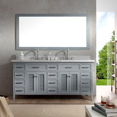 "73"" Kensington Double Sink Bathroom Vanity - Gray"