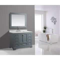 "48"" Omega Single Sink Bathroom Vanity Set-Gray"