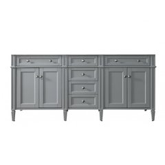 "72"" Brittany Double Cabinet only w/o Top - Urban Gray"