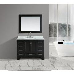 "48"" Omega Single Sink Bathroom Vanity Set-Espresso"