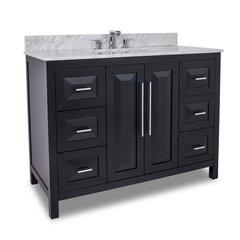 """48"""" Cade Contempo Single Sink Bathroom Vanity - Black"""