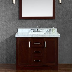 "42"" Seacliff Ashbury Single Sink Bathroom Vanity - Walnut"