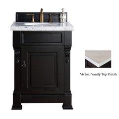 """26"""" Brookfield Vanity w/ Galala Beige Top - Antique Black"""