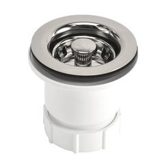 "2"" Round Jr. Drain Strainer - Polished Nickel"
