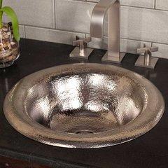 "15-3/4"" Round Maestro Ananda Drop-In Bathroom Sink - Nickel"