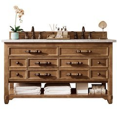 "60"" Malibu Single Sink Vanity w/ Granite Top - Honey Alder"