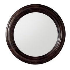 "33"" X 33"" Victoria Round Mirror Burnished Mahogany"