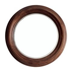 "33"" X 33"" Victoria Round Mirror Coffe Oak"