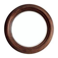 """33"""" X 33"""" Victoria Round Mirror Coffe Oak <small>(#506-M33-CFO)</small>"""