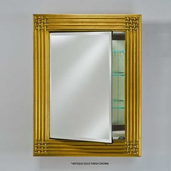 "Vanderbilt 28"" Mirrored Medicine Cabinet -Decor Antique Gold"