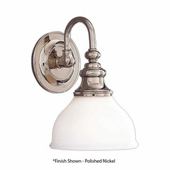 Sutton 1 Light Bathroom Sconce - Antique Nickel