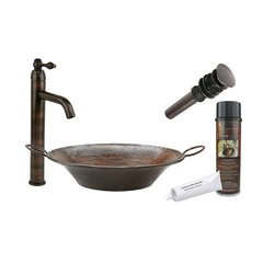 "21"" x 16"" Round Vessel Sink Package - Oil Rubbed Bronze"