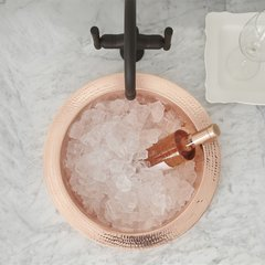 "19"" Mojito Raised Profile Drop-In Bar Sink - Polished Copper"