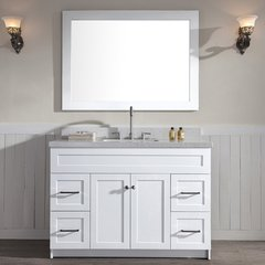 "49"" Hamlet Single Sink Vanity w/ White Quartz Top - White"