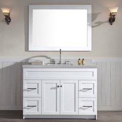 "49"" Hamlet Single Sink Vanity w/ White Quartz Top - White"