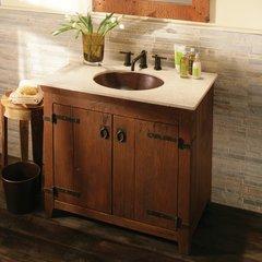 """36"""" Americana Single Sink Bathroom Vanity Suite - Chestnut"""