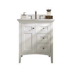 "30"" Palisades Single Sink Vanity w/ Quartz Top - Bright White"