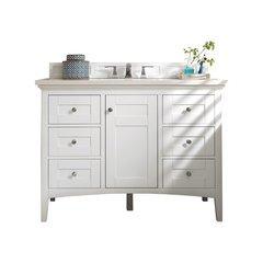 "48"" Palisades Single Sink Vanity w/ Quartz Top - Bright White"
