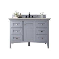 "48"" Palisades Single Sink Vanity w/ Marble Top - Silver Gray"