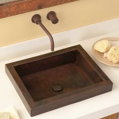 "20"" x 16"" Tatra Drop-In Bathroom Sink - Antique Copper"