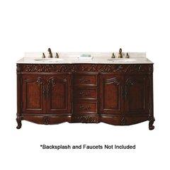 "72"" Embassy Double Sink Bathroom Vanity - Dark Cherry"