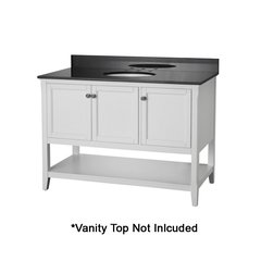 "48"" Auguste Cabinet Only w/o Top - White"