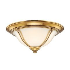 Carrollton 2 Light Flush Mount - Flemish Brass