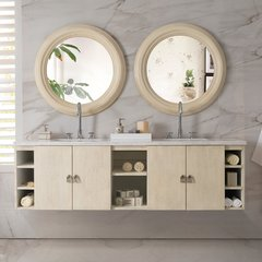 "72"" Sonoma Double Vanity w/ Arctic Fall Top-Vanilla Oak"