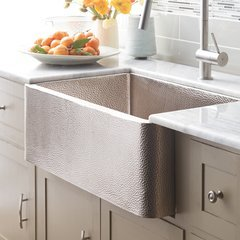"30"" x 18"" Farmhouse Apron Kitchen Sink - Brushed Nickel"