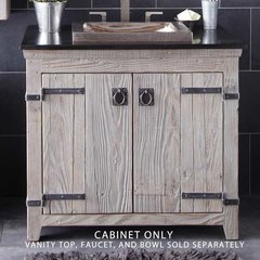 "36"" Americana Single Vanity Cabinet Only w/o Top - Driftwood"