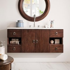 "48"" Sonoma Single Vanity Cabinet Only-Coffee Oak"