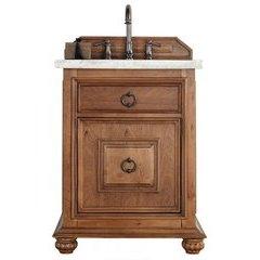 """26"""" Mykonos Single Sink Vanity w/ Granite Top - Cinnamon"""