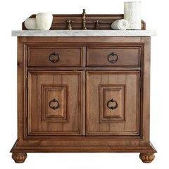 """36"""" Mykonos Single Sink Vanity w/ Granite Top - Cinnamon"""