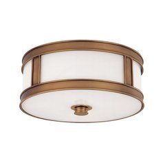 Patterson 3 Light Flush Mount - Aged Brass
