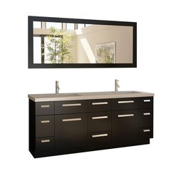 "72"" Moscony Double Sink Bathroom Vanity Set - Espresso"