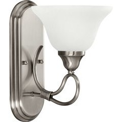 Stafford 1 Light Wall Sconce White French Scavo - Antique Pewter
