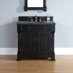 "60"" Brookfield Double Vanity w/ ABS Black Top-Antique Black"