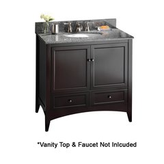 "36"" Berkshire Cabinet Only w/o Top - Espresso"