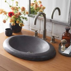 "21"" x 15"" Cuyama Drop-In Bathroom Sink - Slate"