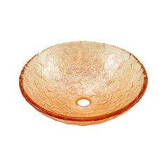 "16"" x 5-1/2"" Vessel Bathroom Sink - Champagne Gold"
