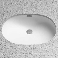 "21"" x 15"" Undermount Bathroom Sink - Cotton White"