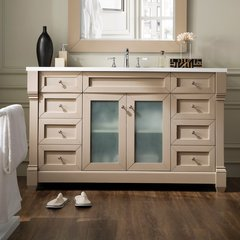 "60"" Weston Single Vanity w/ Snow White Top-Sea Gull"