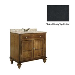 "36"" Barbados Single Sink Vanity w/ Black Top - Brown Cherry"