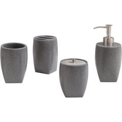 Max 4 Piece Bath Accessories Set - Gray Sand