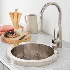 "19"" Mojito Raised Profile Drop-In Sink- Polished Nickel"