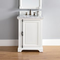 "26"" Providence Single Vanity w/ Carrara White Top-Cott White"